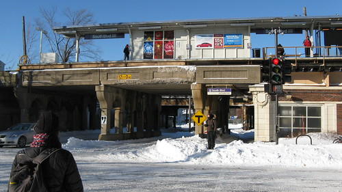 The CTA South Boulevard Purple line station. Evanston Illinois USA. Thursday, February 3rd, 2011. by Eddie from Chicago