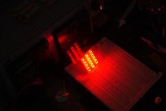 red, light, laser, darkness, lighting,
