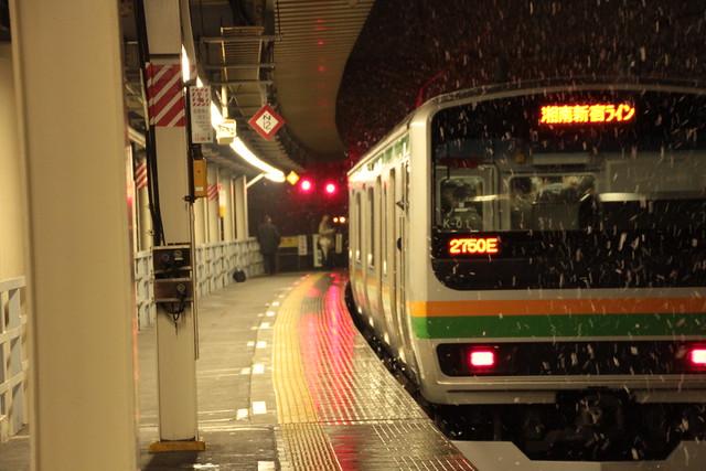 雪の大宮駅