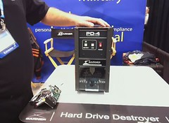 Garner PD-4 Physical Hard Drive Destroyer Demo @ RSA Expo