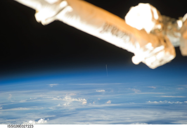 Rocket Launch Seen From Space (NASA, International Space Station, 02/16/11)