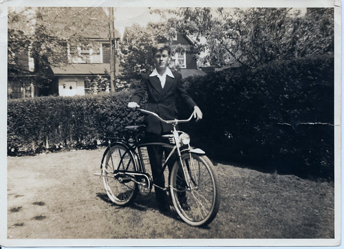 Mike Tierney, New Bike circa 1941