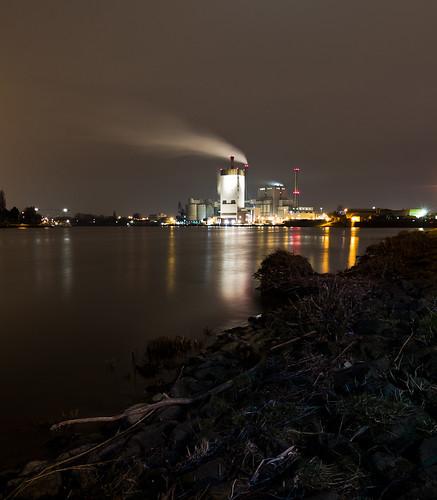 longexposure reflection night nacht bremen powerplant kraftwerk reflextion langzeitbelichtung swb hemelingen
