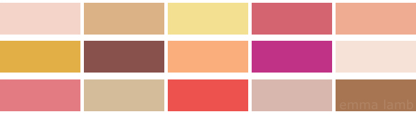 colour palette : you're making me blush - curated by Emma Lamb