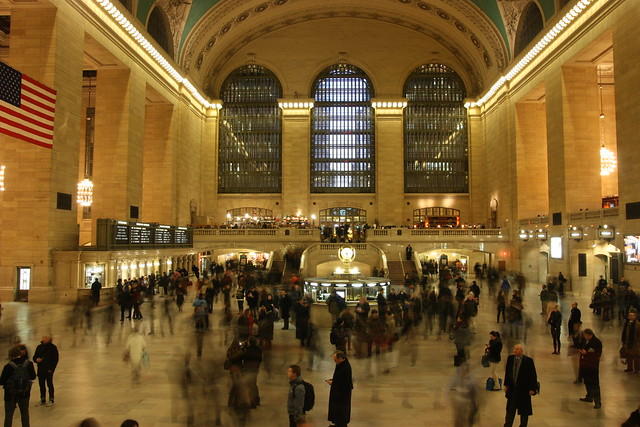 Grand Central Station long exposure