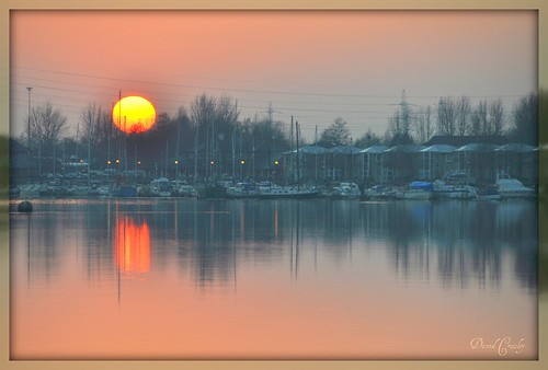 Sunset over Preston Marina SEEN ON GRANADA TV and in the Lancashire Evening Post !!!! Whoooo Hooooo !! EXPLORED !! Too