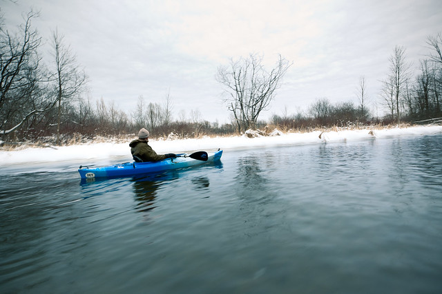 A Winter Paddle. Pure Michigan.