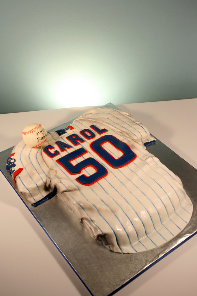 Chicago Cubs Jersey 50th Birthday Cake A Photo On Flickriver