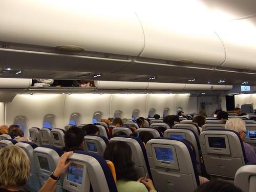 Lufthansa A380 interior