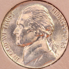 1943 Jefferson Silver war nickel