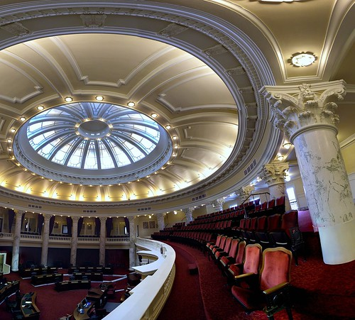 building architecture nikon chairs columns ceiling idaho boise seats dome 1912 rotunda senate statecapitol capitolbuilding coolpixp6000 johnetourtellotte tourtellottehummel charleshummel