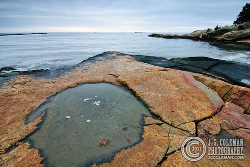 ocean sea usa water rock stone sunrise connecticut eastlyme rockyneckstatepark