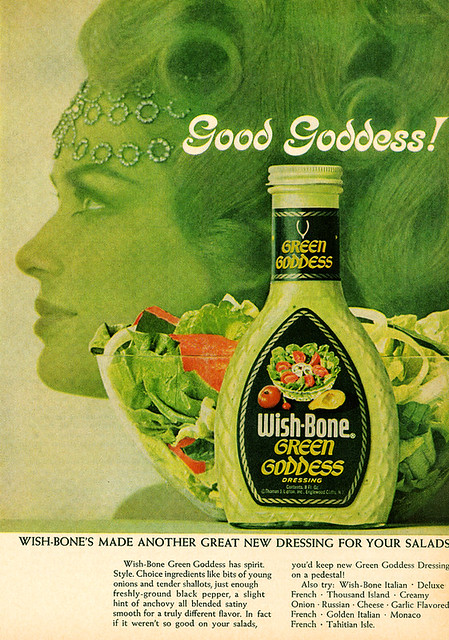 1967 Wish-Bone Green Goddess Salad Dressing Ad | Flickr - Photo ...