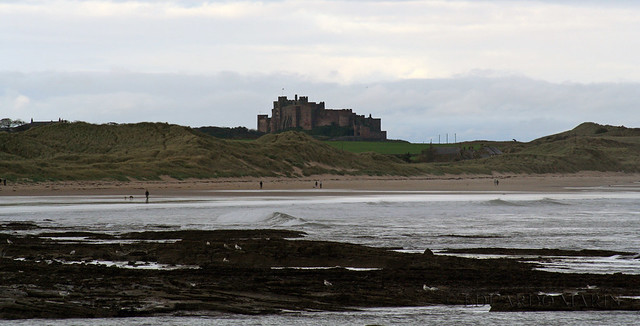 Bamburgh Castle from Seahouses