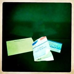 20 mars 2011 Maisons-Alfort Bureau de vote numéro 23 Dans l'isoloir