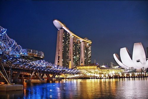 Marina Bay Sands, in the Blue Hour