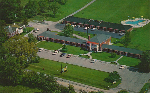 vintage kentucky quality postcard aerialview motel melrose prospect aaa