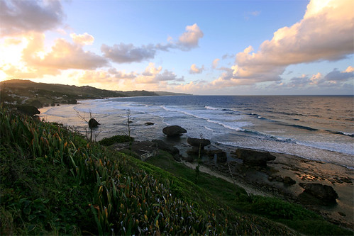 ocean sunset saint st joseph soup coast surf january bowl surfing east barbados coastline caribbean bathsheba 2011