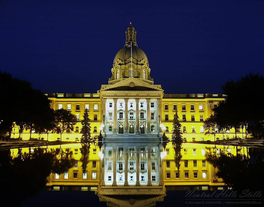 Night Shot of the Alberta Legislature