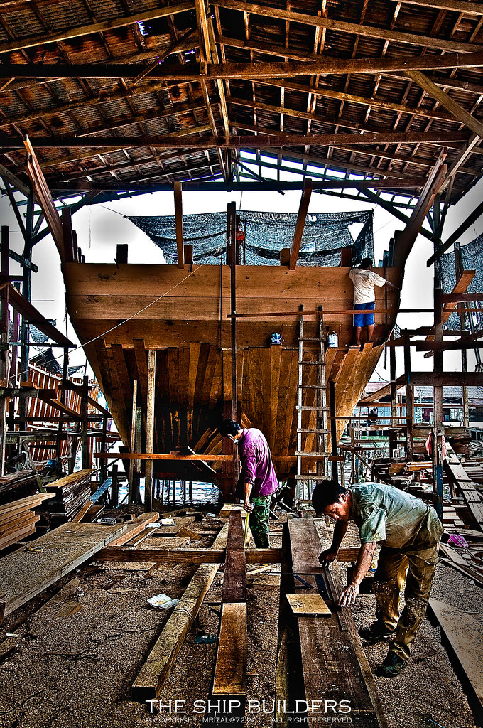 Boat Building at Pangkor Island