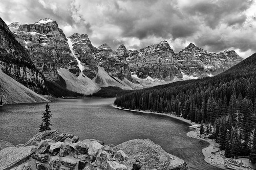 A Stormy Morning at Moraine Lake - Timeless