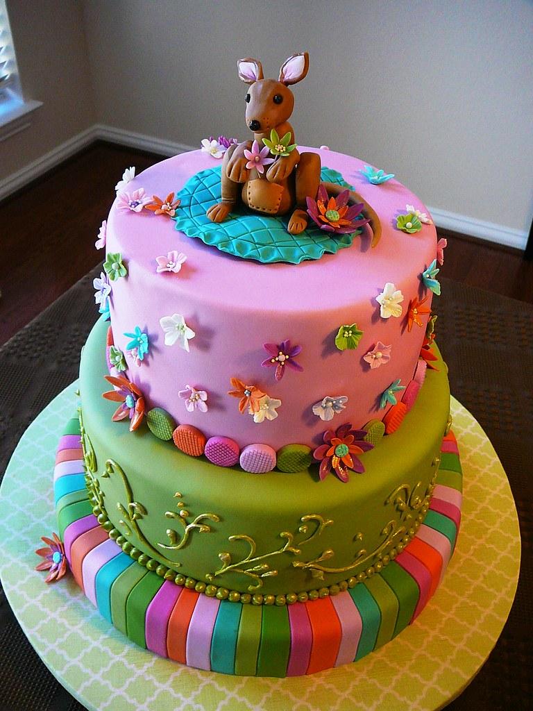 Kangaroo Baby Shower Cake A Photo On Flickriver