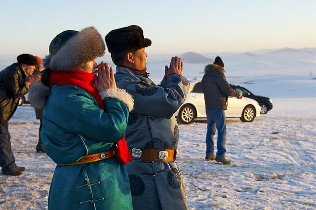 Mongolians trust god of Sun.