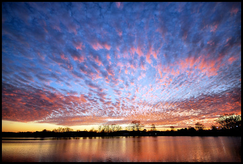 sunset sky lake reflection clouds colorful huntsville alabama bamawester napg brahansprings