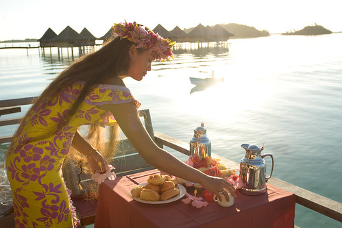 Breakfast at your bungalow at the InterContinental Bora Bora Le Moana Resort & Spa