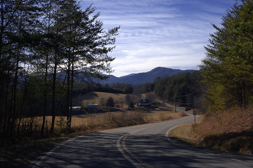 trees sky mountains rural landscape spring scenic northcarolina