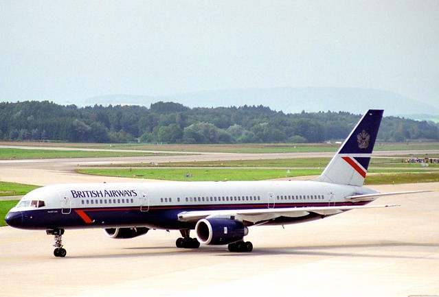British Airways Boeing 757-236; G-BMRH@ZRH;24.09.1995