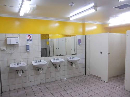 Bright Public Toilet