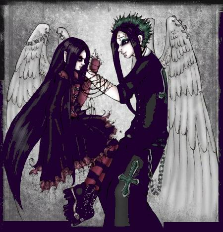 Anime Gothic Pictures Gothic Couple Goth Anime
