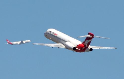 QantasLink 717 and a Qantas A330-300