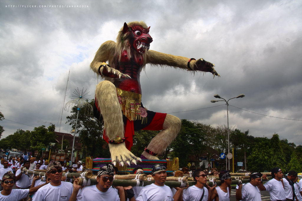 bali image : Ogoh-ogoh Festival on Pengerupukan Day, one day before Nyepi, the silent day