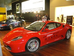 automobile(1.0), vehicle(1.0), performance car(1.0), automotive design(1.0), ferrari f430 challenge(1.0), auto show(1.0), ferrari f430(1.0), ferrari 360(1.0), land vehicle(1.0), luxury vehicle(1.0), supercar(1.0), sports car(1.0),