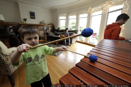 sequoia joins the band on marimba