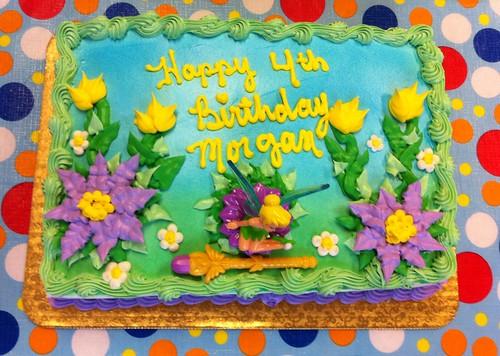 Gâteau d'anniversaire Fée Clochette