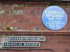 Photo of Charles McKimm blue plaque