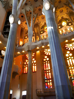 Bild av Basilica de la Sagrada Família nära Gràcia. guido cathedral barcelona