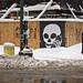Snow Day. Skullphone. East Village. New York. 1.27.11 by Matthew Kraus