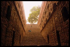 Agrasen Ki Baoli - (upward view)