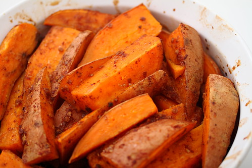 Chili-Bathed Sweet Potato Fries