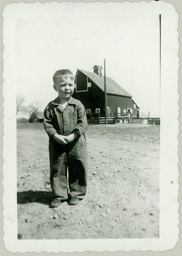 Child and Barn