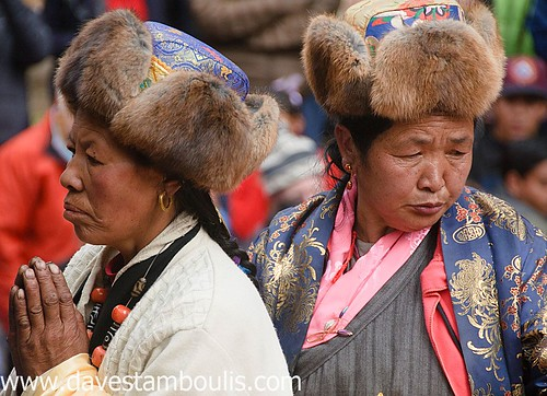 Sherpa Tibetan pilgrims at the Mani Rindu Festival at Tengboche Monastery in the Everest Region of Nepal