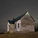 Old 2 Room School House in Looney at Night - Craig County, VA