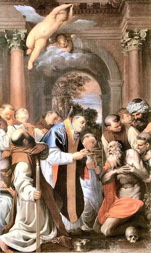 Carracci, Agostino (1557-1602) - 1591-92 The Last Communion of St. Jerome (Pinacoteca Nazionale di Bologna, Italy)