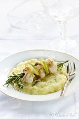 Monkfish with potatoes, fennel and lime