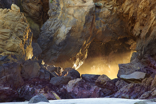 Labyrinthine Light - Pfeiffer State Beach, California
