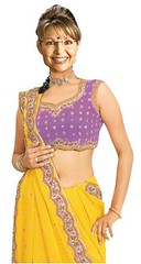 pattern, magenta, clothing, purple, abdomen, yellow, trunk, sari,
